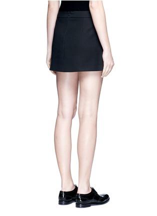 Back View - Click To Enlarge - NEIL BARRETT - Metallic stripe cotton mini skirt