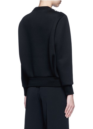 Back View - Click To Enlarge - Neil Barrett - Contrast stripe bonded jersey sweatshirt