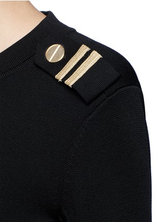 Detail View - Click To Enlarge - Neil Barrett - Metallic stripe Milano knit sweater
