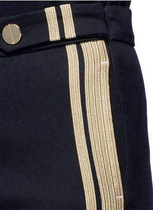 Detail View - Click To Enlarge - NEIL BARRETT - Metallic stripe cotton pants