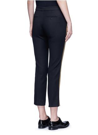 Back View - Click To Enlarge - NEIL BARRETT - Metallic stripe cotton pants