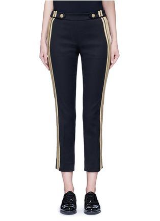Main View - Click To Enlarge - NEIL BARRETT - Metallic stripe cotton pants