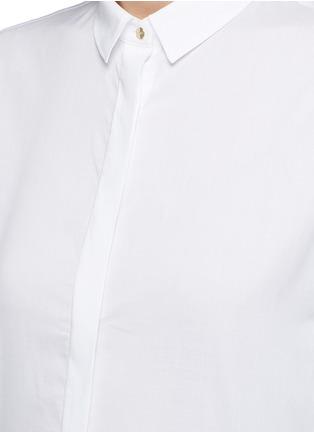 Detail View - Click To Enlarge - Neil Barrett - Cotton muslin shirt