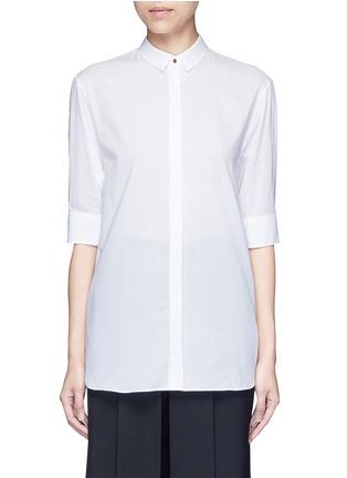 Main View - Click To Enlarge - Neil Barrett - Cotton muslin shirt