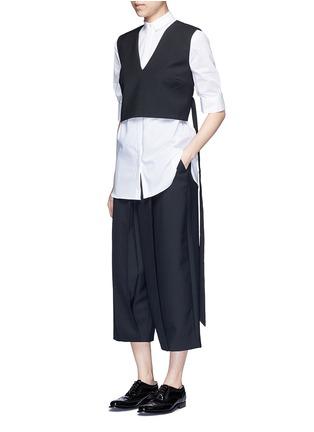 Figure View - Click To Enlarge - Neil Barrett - Cotton muslin shirt