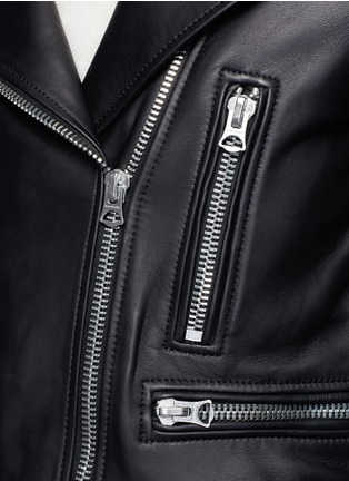 Detail View - Click To Enlarge - Acne Studios - 'Mock' lambskin leather motorcycle jacket
