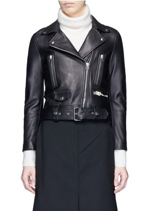 Main View - Click To Enlarge - Acne Studios - 'Mock' lambskin leather motorcycle jacket