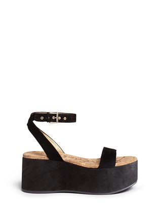 Main View - Click To Enlarge - Sam Edelman - 'Henley' suede platform sandals