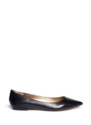 Main View - Click To Enlarge - Sam Edelman - Rae' croc embossed trim leather skimmer flats