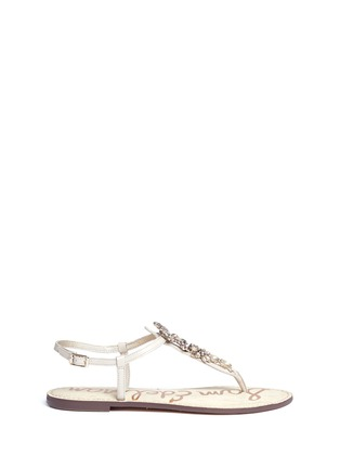 Main View - Click To Enlarge - SAM EDELMAN - 'Gene' embellished leather sandals