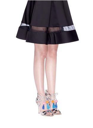 Figure View - Click To Enlarge - Sam Edelman - 'Azela' pompom tassel mirror sandals