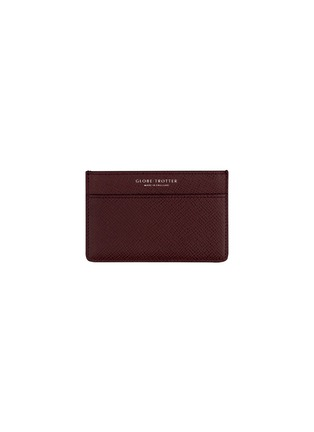 Main View - Click To Enlarge - GLOBE-TROTTER - Jet name card holder – Burgundy