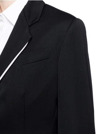 Detail View - Click To Enlarge - Stella McCartney - Split notched lapel wool suiting jacket