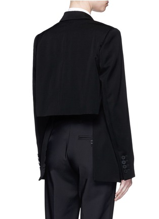 Back View - Click To Enlarge - Stella McCartney - Split notched lapel wool suiting jacket