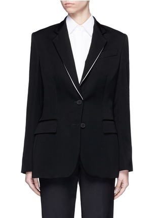 Main View - Click To Enlarge - Stella McCartney - Split notched lapel wool suiting jacket