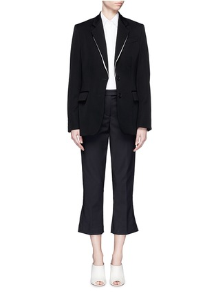 Figure View - Click To Enlarge - Stella McCartney - Split notched lapel wool suiting jacket