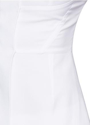 Detail View - Click To Enlarge - Stella McCartney - Structured off-shoulder cotton piqué top
