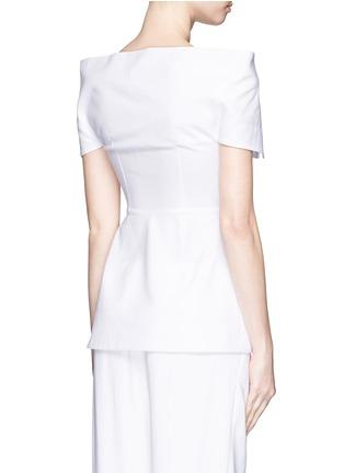 Back View - Click To Enlarge - Stella McCartney - Structured off-shoulder cotton piqué top
