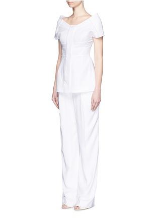 Figure View - Click To Enlarge - Stella McCartney - Structured off-shoulder cotton piqué top