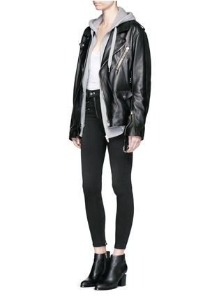Figure View - Click To Enlarge - RAG & BONE/JEAN - High waist biker denim pants