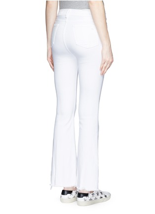 Back View - Click To Enlarge - RAG & BONE/JEAN - 'Crop Flare' fray cuff jeans