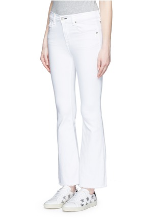 Front View - Click To Enlarge - RAG & BONE/JEAN - 'Crop Flare' fray cuff jeans