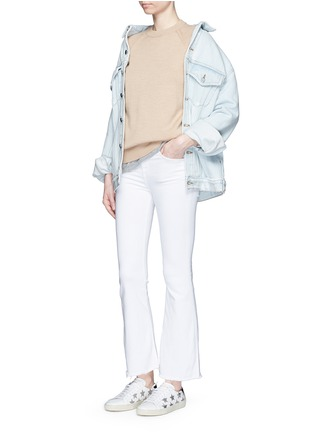 Figure View - Click To Enlarge - RAG & BONE/JEAN - 'Crop Flare' fray cuff jeans