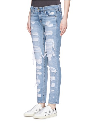 Front View - Click To Enlarge - rag & bone/JEAN - 'The Dre' ripped slim boyfriend jeans
