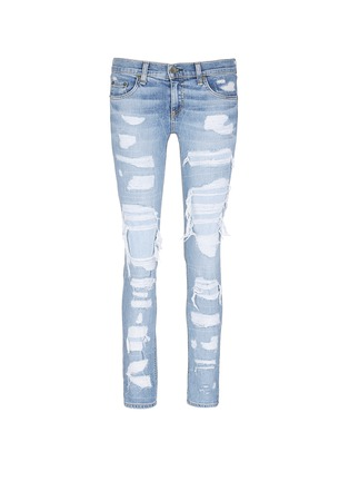 Main View - Click To Enlarge - rag & bone/JEAN - 'The Dre' ripped slim boyfriend jeans