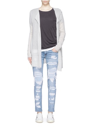 Figure View - Click To Enlarge - rag & bone/JEAN - 'The Dre' ripped slim boyfriend jeans