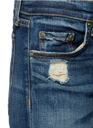Detail View - Click To Enlarge - rag & bone/JEAN - 'The Dre' distressed slim boyfriend jeans