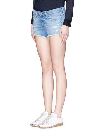 Front View - Click To Enlarge - rag & bone/JEAN - Distressed cutoff denim shorts