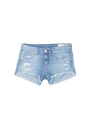 Main View - Click To Enlarge - RAG & BONE/JEAN - Distressed cutoff denim shorts