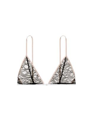 Main View - Click To Enlarge - Kiki De Montparnasse - 'Ingenue' Leavers lace soft triangle bra
