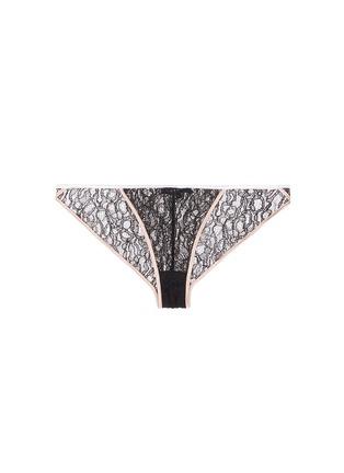 Main View - Click To Enlarge - KIKI DE MONTPARNASSE - 'Ingenue' silk trim Leavers lace panty