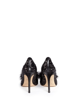 Back View - Click To Enlarge - Kate Spade - 'Lexi Too' pompom sequin pumps