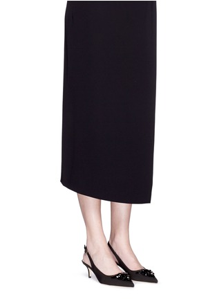 Figure View - Click To Enlarge - Kate Spade - 'Marina Too' jewel kitten heel slingback pumps