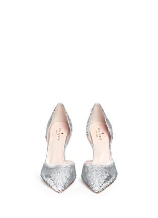 Front View - Click To Enlarge - Kate Spade - 'Portia' sequin scale d'Orsay pumps