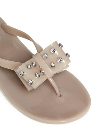 Detail View - Click To Enlarge - Kate Spade - Francy' strass bow jelly thong sandals