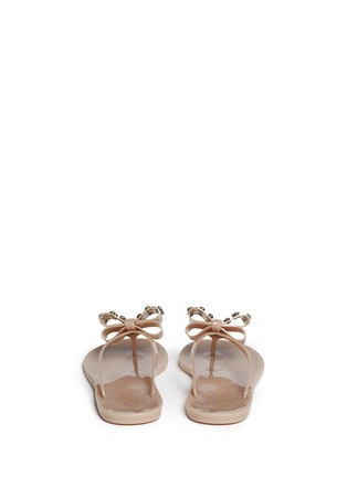 Back View - Click To Enlarge - Kate Spade - Francy' strass bow jelly thong sandals