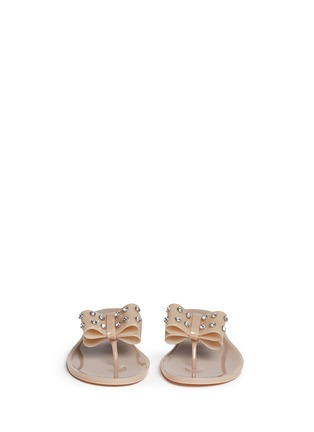 Front View - Click To Enlarge - Kate Spade - Francy' strass bow jelly thong sandals