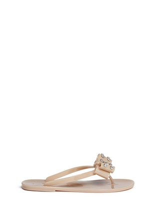 Main View - Click To Enlarge - Kate Spade - Francy' strass bow jelly thong sandals