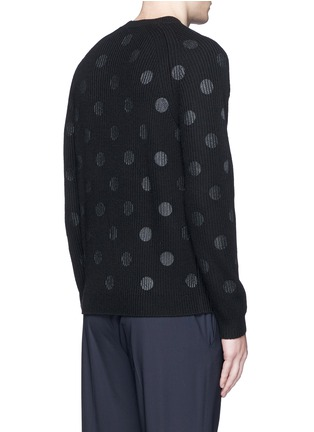 Back View - Click To Enlarge - PS by Paul Smith - Metallic dot print Merino wool sweater