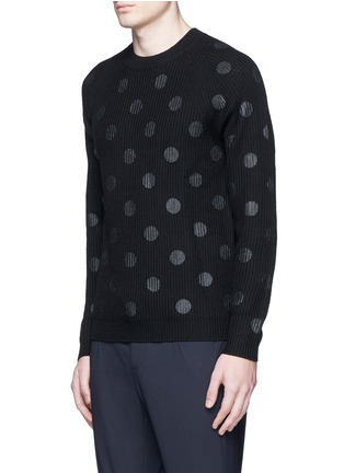 Front View - Click To Enlarge - PS by Paul Smith - Metallic dot print Merino wool sweater