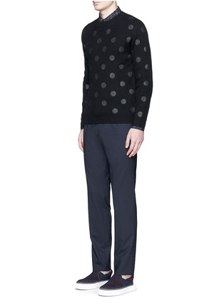 Figure View - Click To Enlarge - PS by Paul Smith - Metallic dot print Merino wool sweater