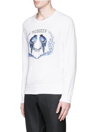 Front View - Click To Enlarge - Alexander McQueen - Bird embroidery sweatshirt