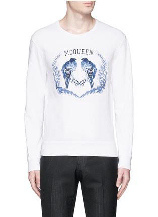 Main View - Click To Enlarge - Alexander McQueen - Bird embroidery sweatshirt
