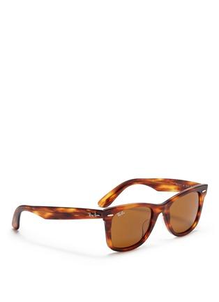 Figure View - Click To Enlarge - Ray-Ban - 'Original Wayfarer' tortoiseshell acetate sunglasses
