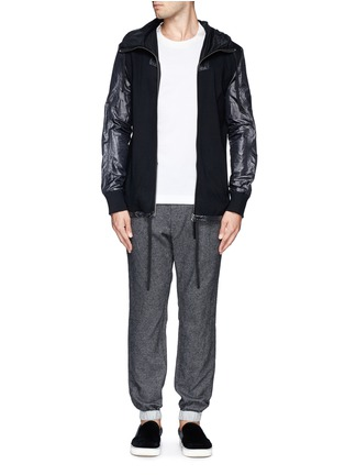 Figure View - Click To Enlarge - Sacai - Contrast waistline drawstrong jogging pants