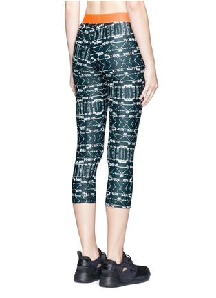 Back View - Click To Enlarge - The Upside - 'Jungle Shibori NYC' print performance leggings